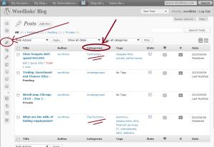 WordPress - Edit categories